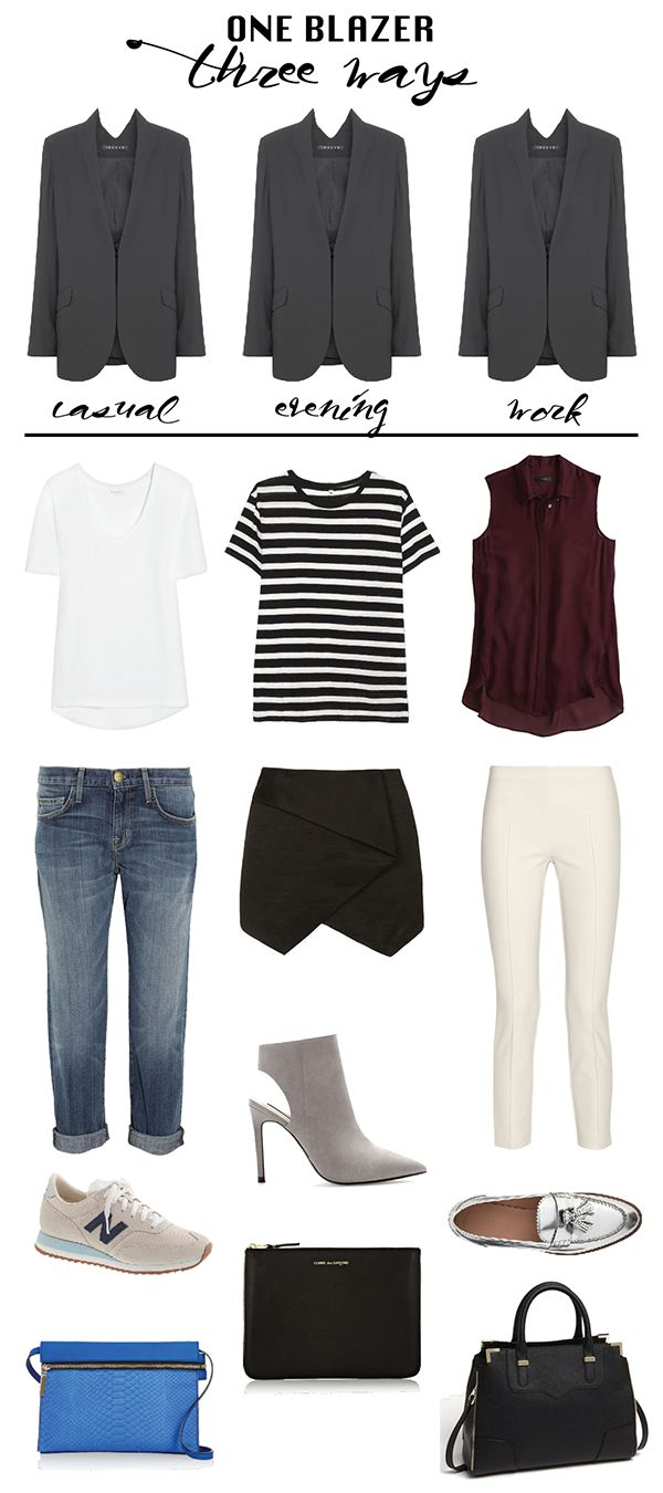 Best 25+ Grey blazer outfit ideas on Pinterest | Grey blazer black ...