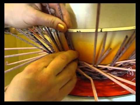 ▶ ▬► Послойное плетение из газет. Часть 2. - YouTube