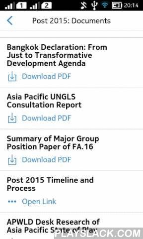 Post 2015  Android App - playslack.com , Post 2015 App is a practical tool for advocates and civil society who work on shaping the Post-2015 Development agenda and SDGs. It contains the position of governments in Asia and the Pacific on wide range of issues discussed in Open Working Group (OWG) meetings. We hope that this app serves the purpose to map out governments' positions, and will help the peoples' movement to hold the government accountable and struggle for equality, human rights and…