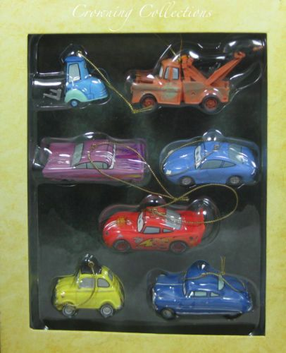 Disney Pixar Cars Christmas Storybook Ornament Set ...