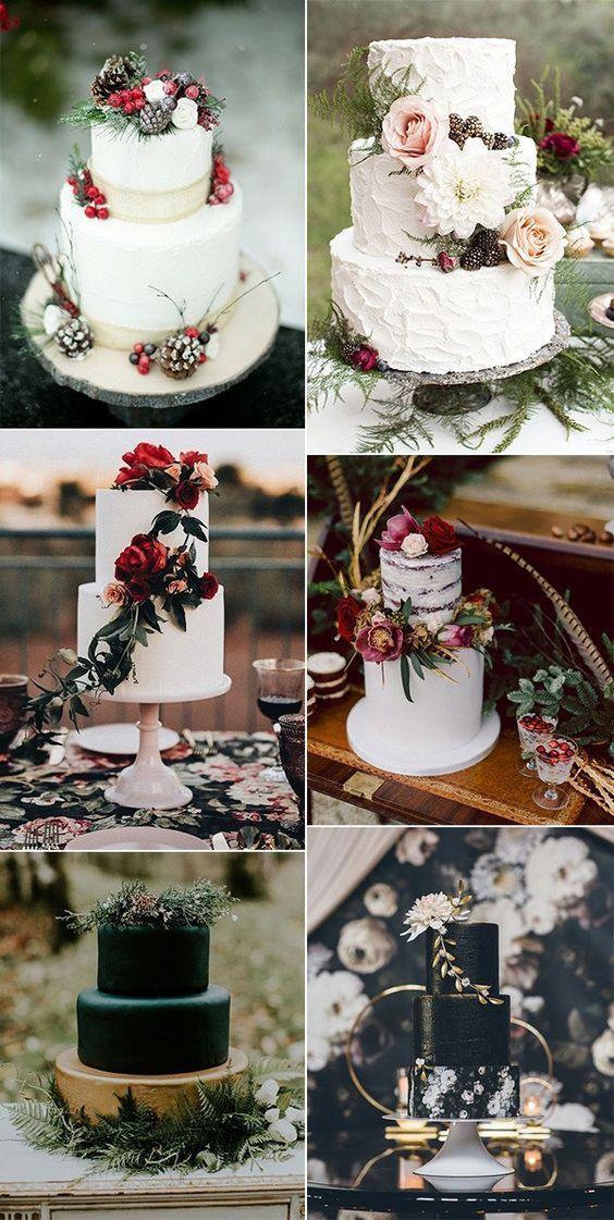 Marsala Wedding Pantone Neutral Colordiy wedding cake