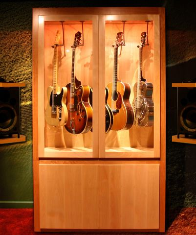 Gallery - Case Sensitive LLC Case Sensitive LLC - Hand-crafted solid wood guitar display case with humidity control