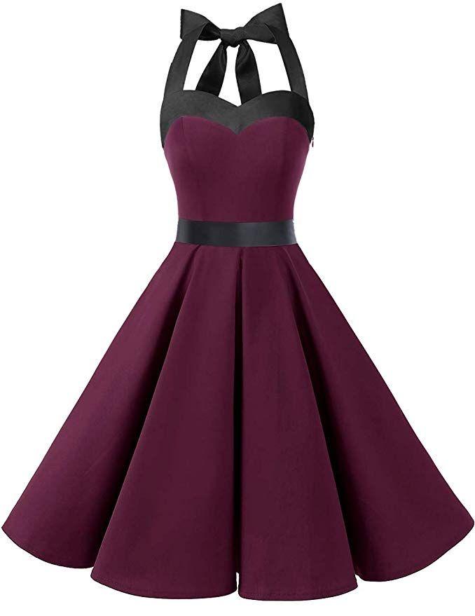 DRESSTELLS Vintage 1950s Rockabilly Polka Dots Audrey Dress Retro Cocktail Dress... 3