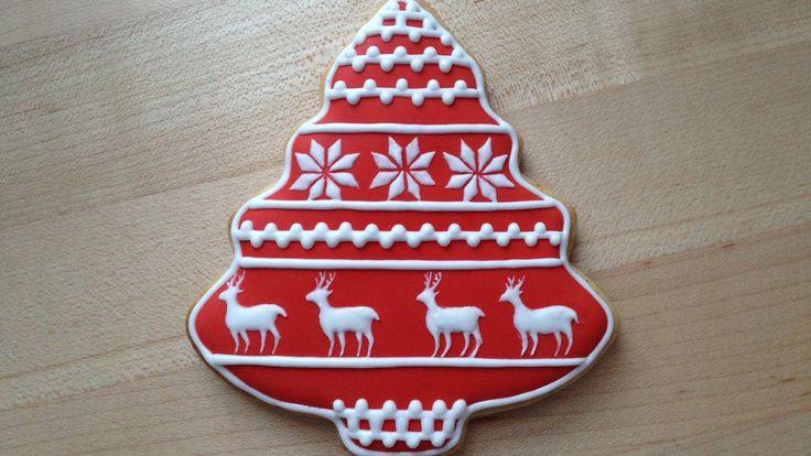 クリスマスクッキーのデコレーション - トナカイ柄