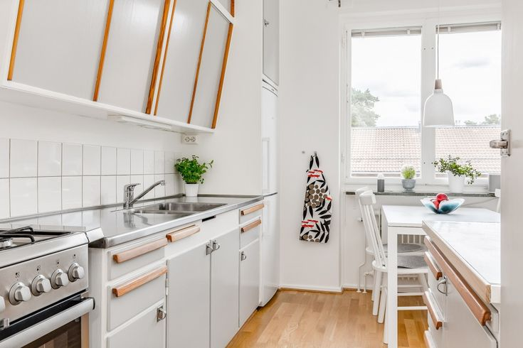 Grey 50's kitchen, Stockholm, Sweden #50s #kitchen #grey #retro #Stockholm #Sweden