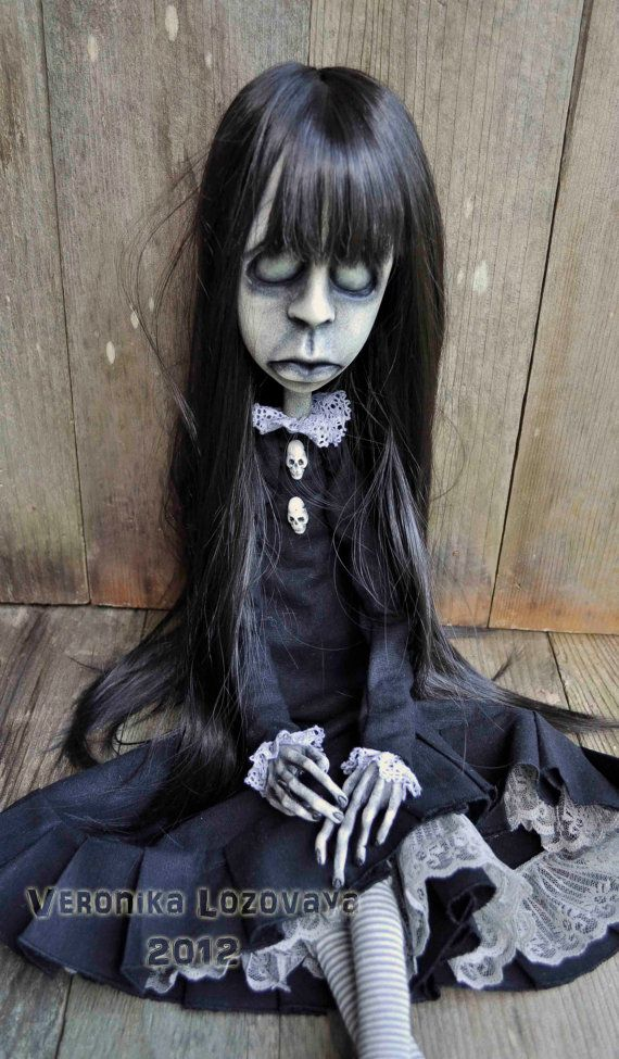 Gothic Art Doll Creepy possessed Girl  Elza 30'' by DarkAlley, $650.00