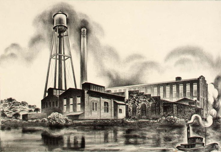 Louis Lozowick - Konmar Products, Bayonne New Jersey (1937)