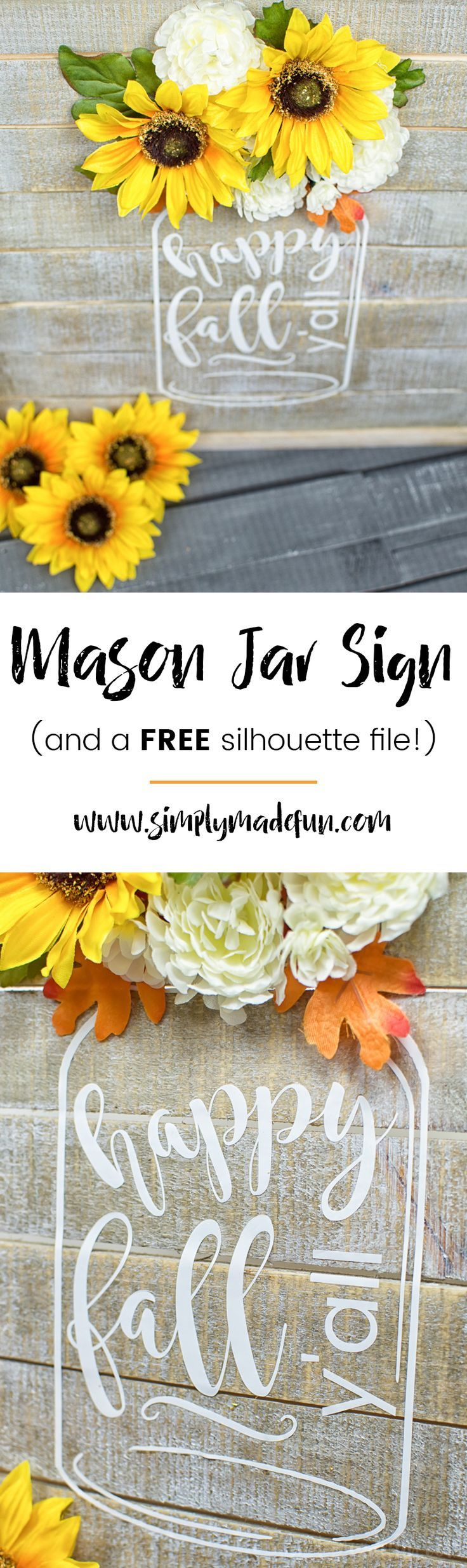 Celebrate Fall in Southern-style using my FREE Fall silhouette file and make…