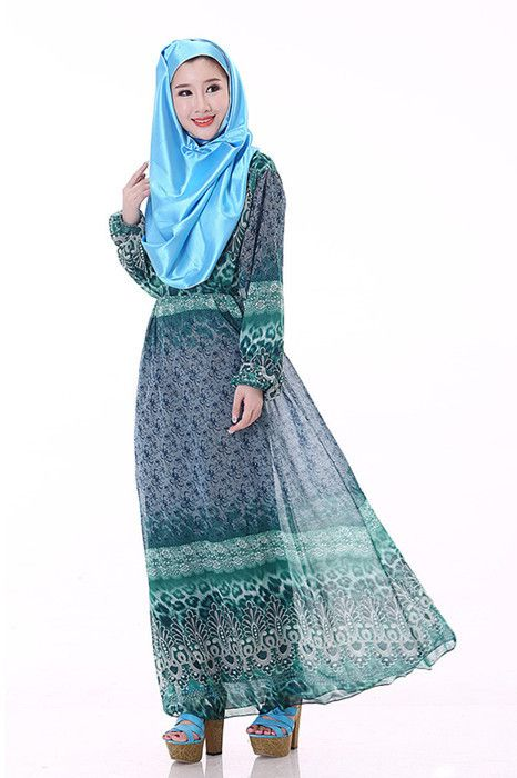 Muslim women abaya Middle East female islamic dress long-sleeved clothing Muslim prayer clothing Arab Women Robe Muslim dresses