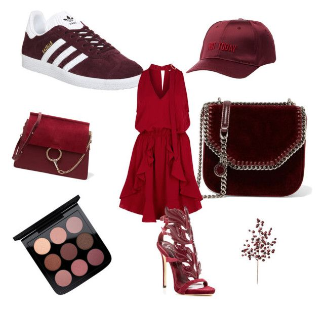 """""""The little red"""" by elinohrner on Polyvore featuring STELLA McCARTNEY, adidas, Chloé, Finders Keepers, Giuseppe Zanotti, Frontgate and Charlotte Russe"""