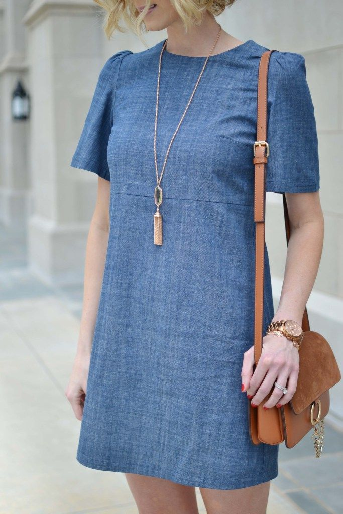 WAYF Little Chambray Dress - Straight A Style