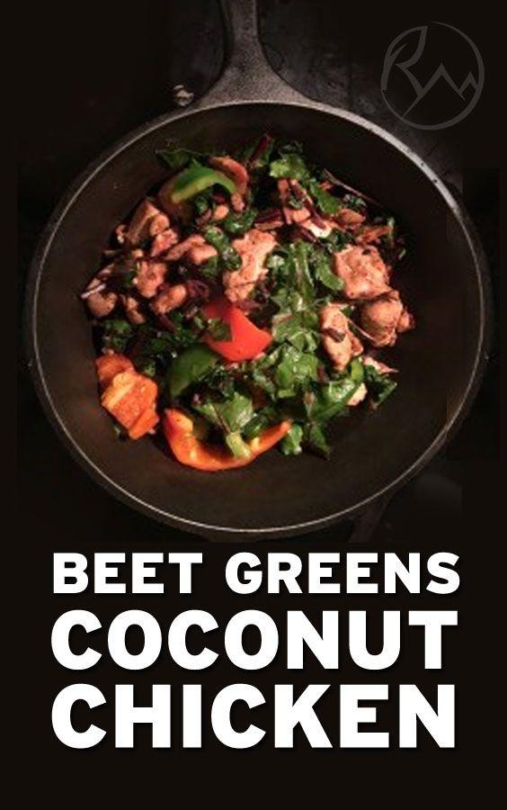 Beet Greens Chicken Coconut Recipe | Healthy Food | Plant Foods