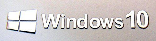 Microsoft Windows 10 Metal Sticker 9mm x 50mm [878]