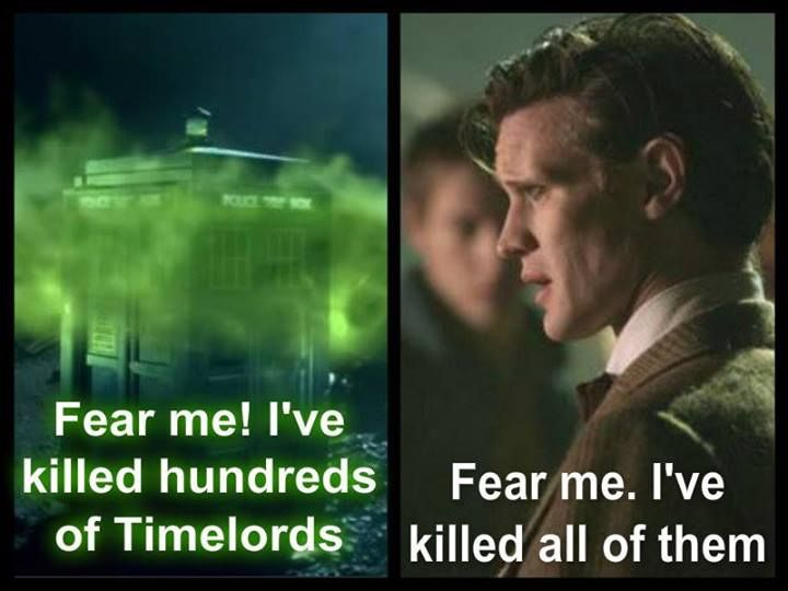 """""""One of the saddest lines of the whole series.""""-- very much indeed, but not any more. Gallifrey Falls No More"""
