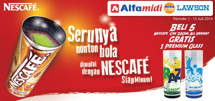 Lawson: Beli 5 Nescafe Can 250ml Gratis 1 Premium Glass @LawsonIndonesia
