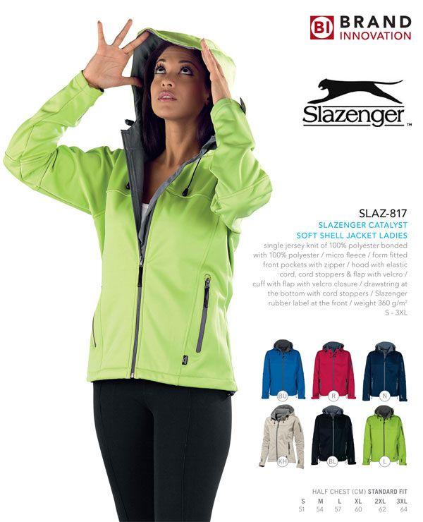 Soft Shell Jacket - #jackets #slazenger #fashion #couture #haute #TagsForPins #Brands #winter #hipster #fitness #gymwear