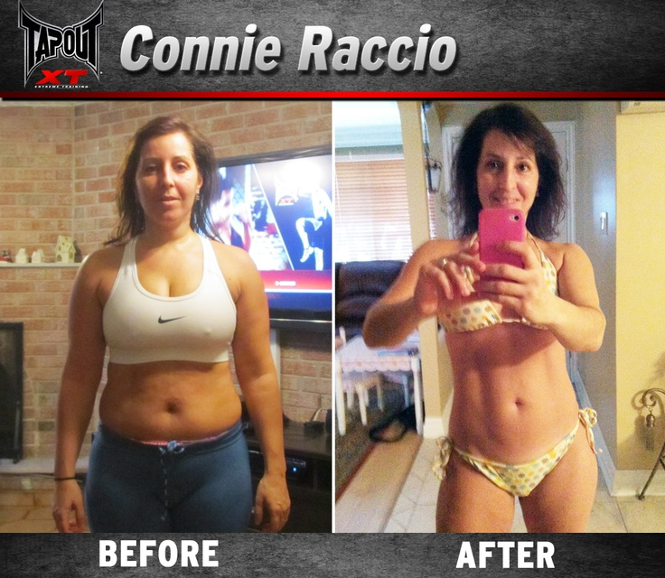 Connie found her bikini body with TapouT XT!! She's ready to hit the beach this summer!