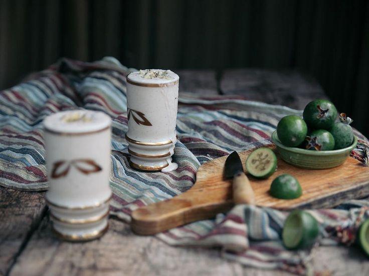 Petite Kitchen's Feijoa, Honey and Yoghurt Milkshake - Eleanor Ozich shares a flavoursome feijoa milkshake