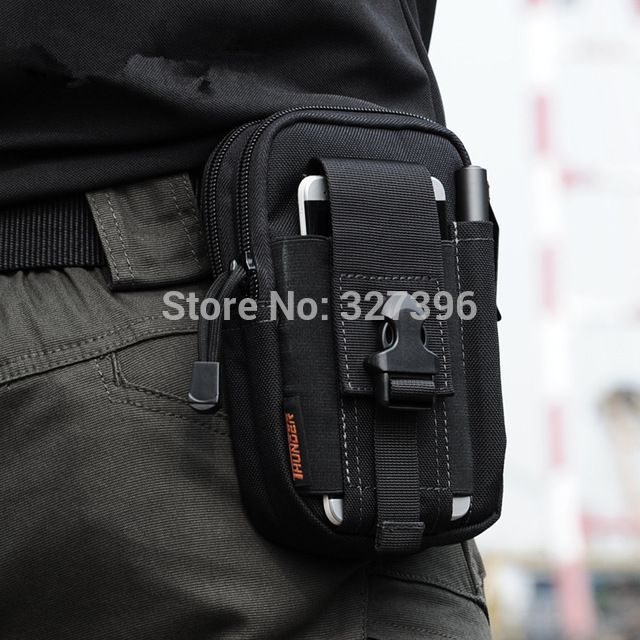 Molle exército saco EDC tático militar cintura bloco de Fanny 5.7 de polegada de cinto pacote de cintura esporte ao ar livre