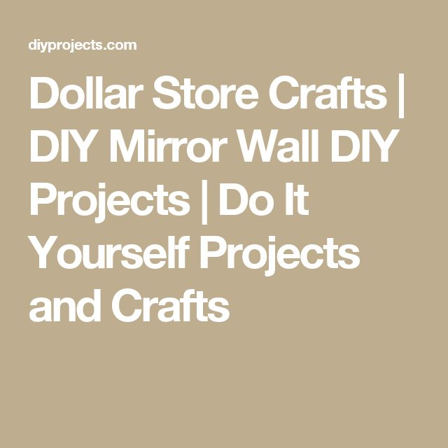 Dollar Store Crafts | DIY Mirror Wall DIY Projects | Do It Yourself Projects and Crafts