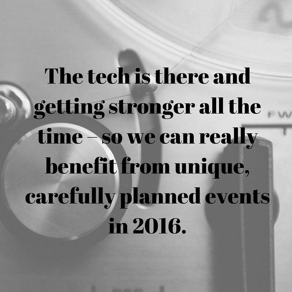#Eventtech trends for 2016 http://bit.ly/20owzUG  #eventprofs