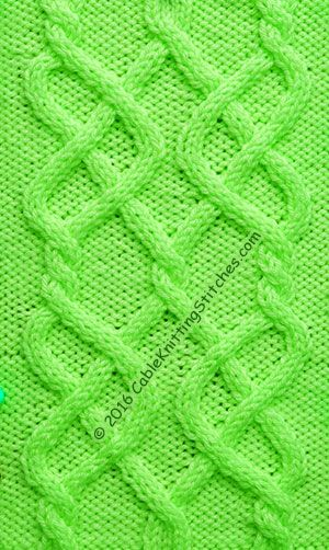 Cable Knitting Stitches » Celtic Knot 2. Free written instruction