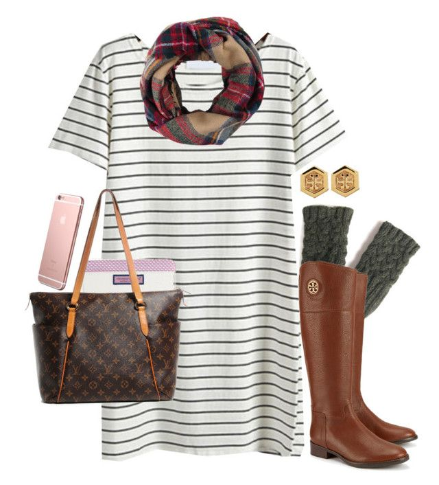"""""""t-shirt dresses for fall"""" by emmig02 ❤ liked on Polyvore featuring мода, Look by M, Vineyard Vines, Tory Burch и Louis Vuitton"""