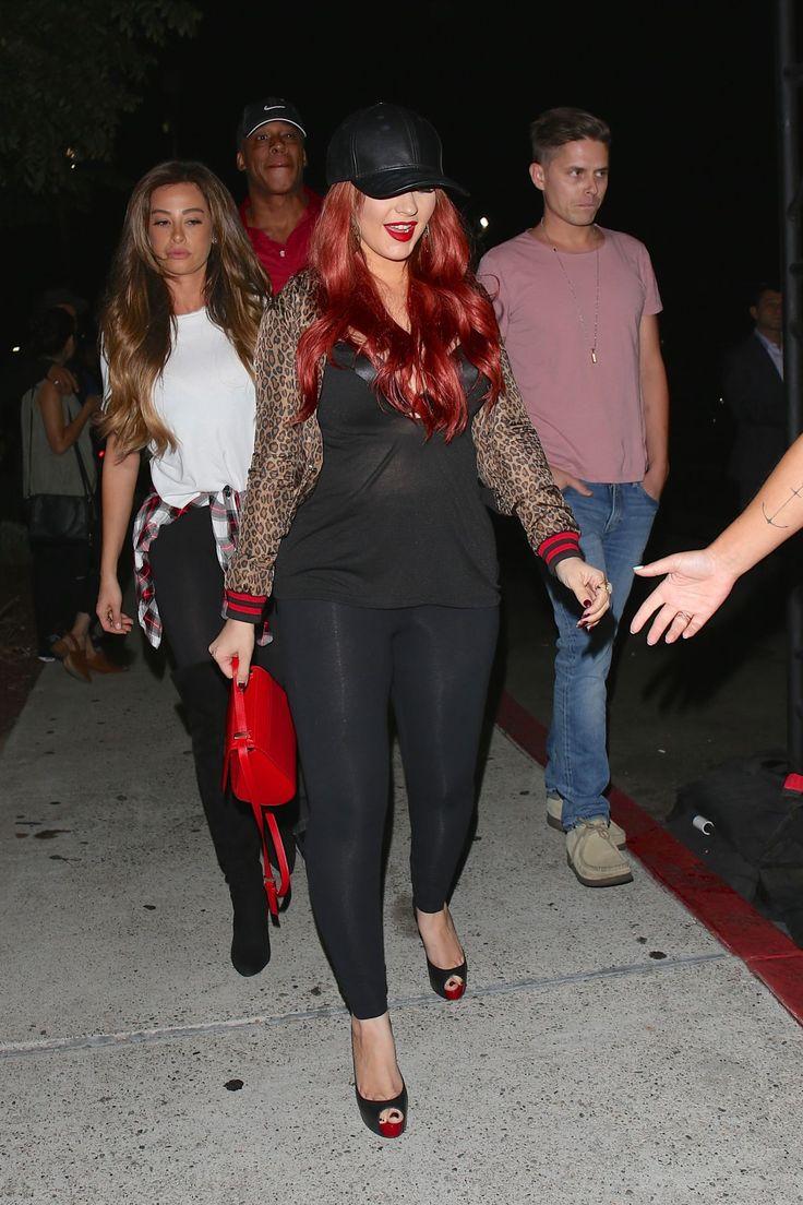 Christina Aguilera  Arriving at the Drake and Future Concert in Inglewood Sep-2016 Celebstills C Christina Aguilera