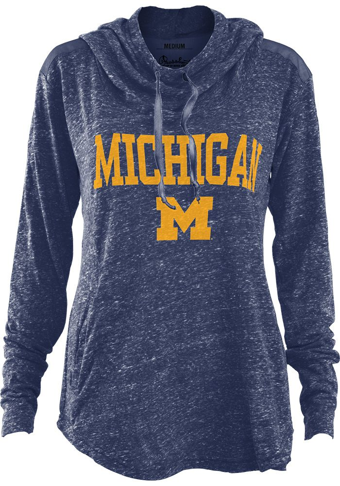 Michigan Wolverines Womens Navy Blue Hillrise Hooded Sweatshirt 22641273 University Of Michigan Apparel Sweatshirts Hooded Sweatshirts