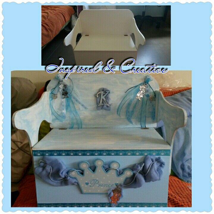 Μικρός πρίγκηπας κουτί βάφτισης -Inspired & Creative