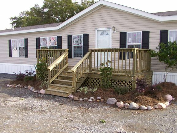 Best 25 mobile home porch ideas on pinterest Decks and porches for mobile homes