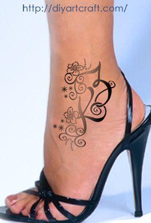 Tatoo caviglia