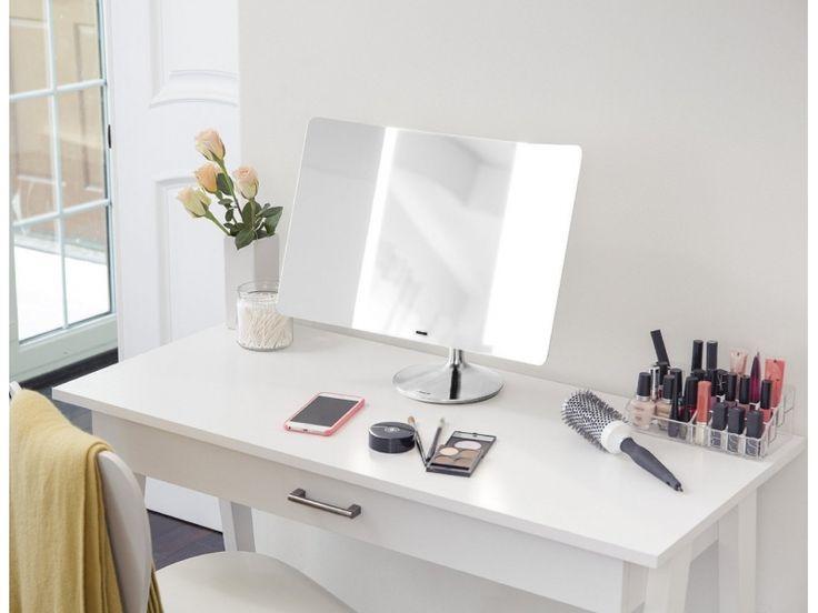 Simplehuman -lustro sensorowe beprzewodowe WIDE-VIEW, perfect makeup, beauty, beautiful woman, modern woman, perfekcyjny makijaż, lustro z oświetleniem