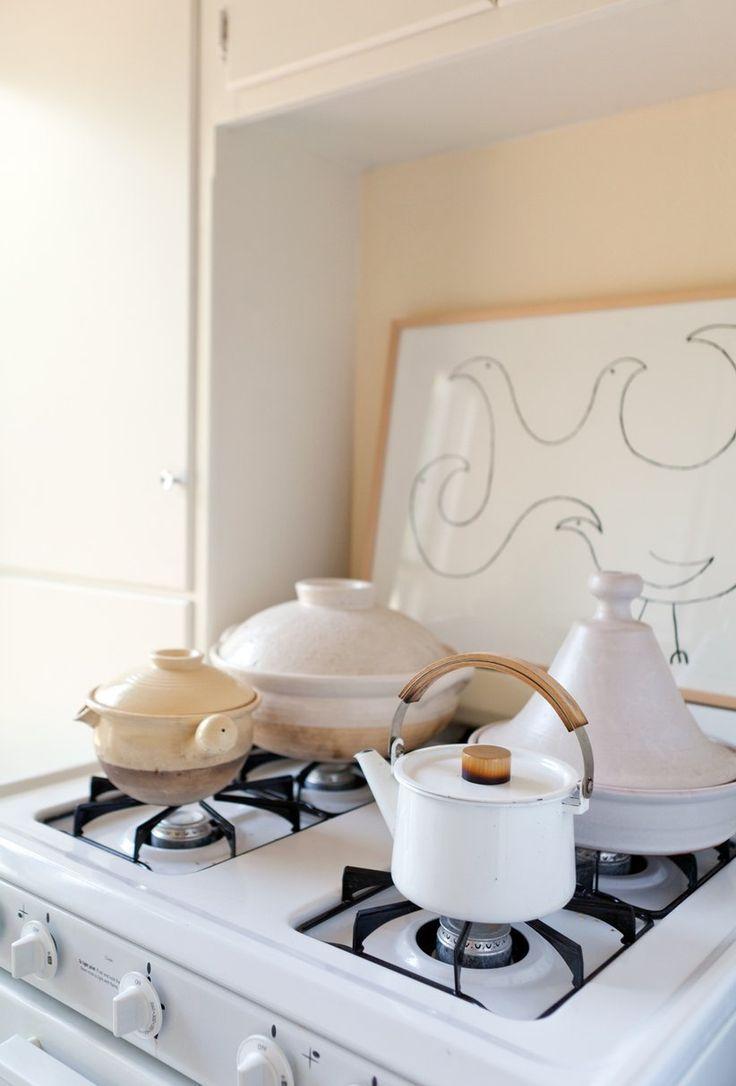 white pots