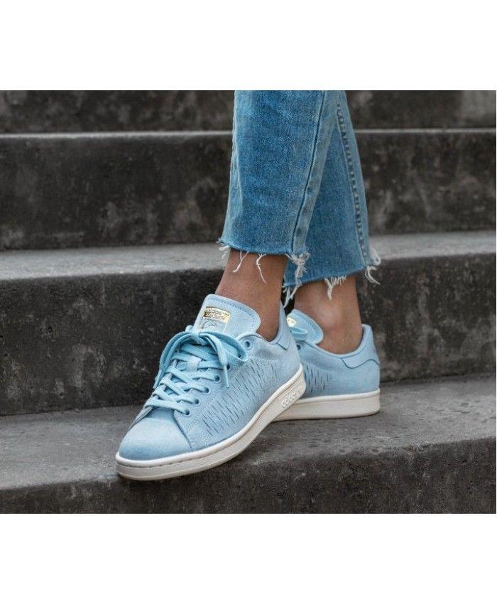 Adidas Stan Smith W Easy Blue Chalk White Trainers | adidas