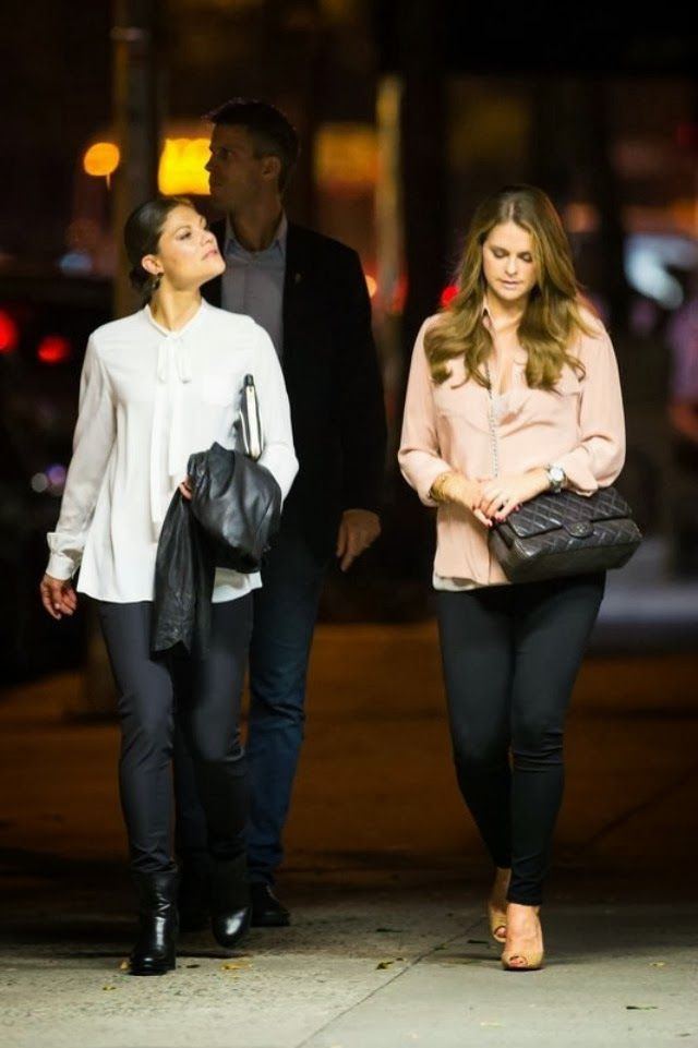 MYROYALS &HOLLYWOOD FASHİON: Crown Princess Victoria and Princess Madeleine in New York-the sisters went out to dinner