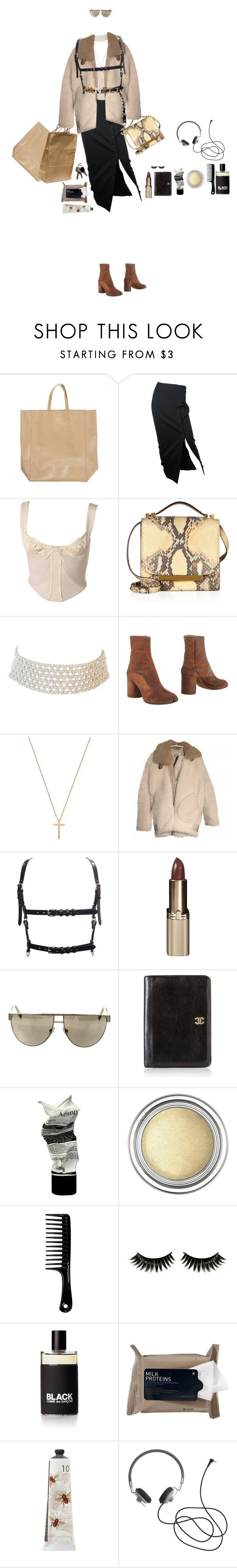 """127"" by coconutmiik ❤ liked on Polyvore featuring CÉLINE, Jean-Paul Gaultier, Versace, The Row, Marina J., Maison Margiela, Gucci, Acne Studios, L'Oréal Paris and Balmain"