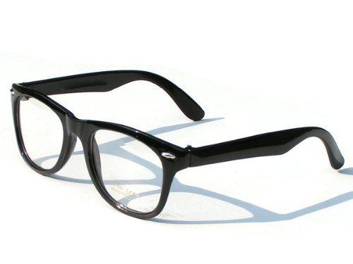 Tedd Haze Wayfarer Brille schwarz klar Glas incl. Brillen Beutel