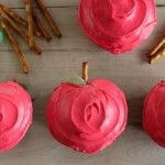 Apple Shaped Cupcakes- garden day
