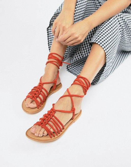 638af652347 ASOS DESIGN Fredo suede knotted two part with tie leg