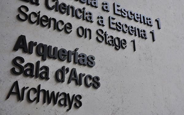 Signage and environmental graphics for Ciudad de las Artes y las Ciencias