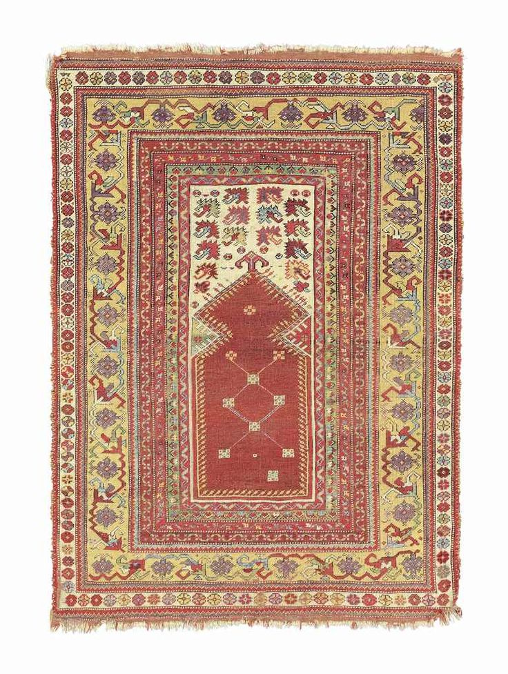 MELAS PRAYER RUG  WEST ANATOLIA, EARLY 19TH CENTURY    4ft.9in. x 3ft.6in. (144cm. x 106cm.)
