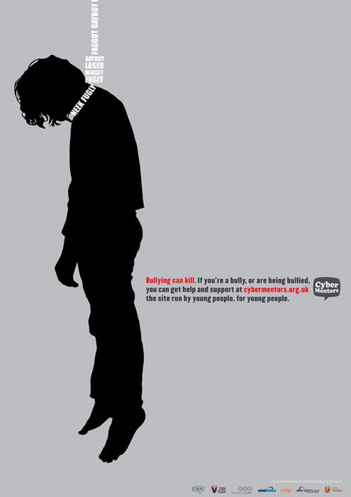 Anti-bullying ad campaign..i almost lost a close friend to this...thank god he contacted me, and i help prevent ti in time...if people are out there and need someone to talk to..im here