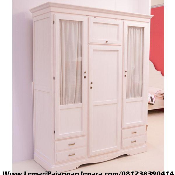 Jual Lemari Pakaian Anak Pintu 3 merupakan Produk Mebel asli dari Jepara dengan Desain Lemari Minimalis Dan Pintu Model Lain Lemari Pakaian Anak Cat Pink