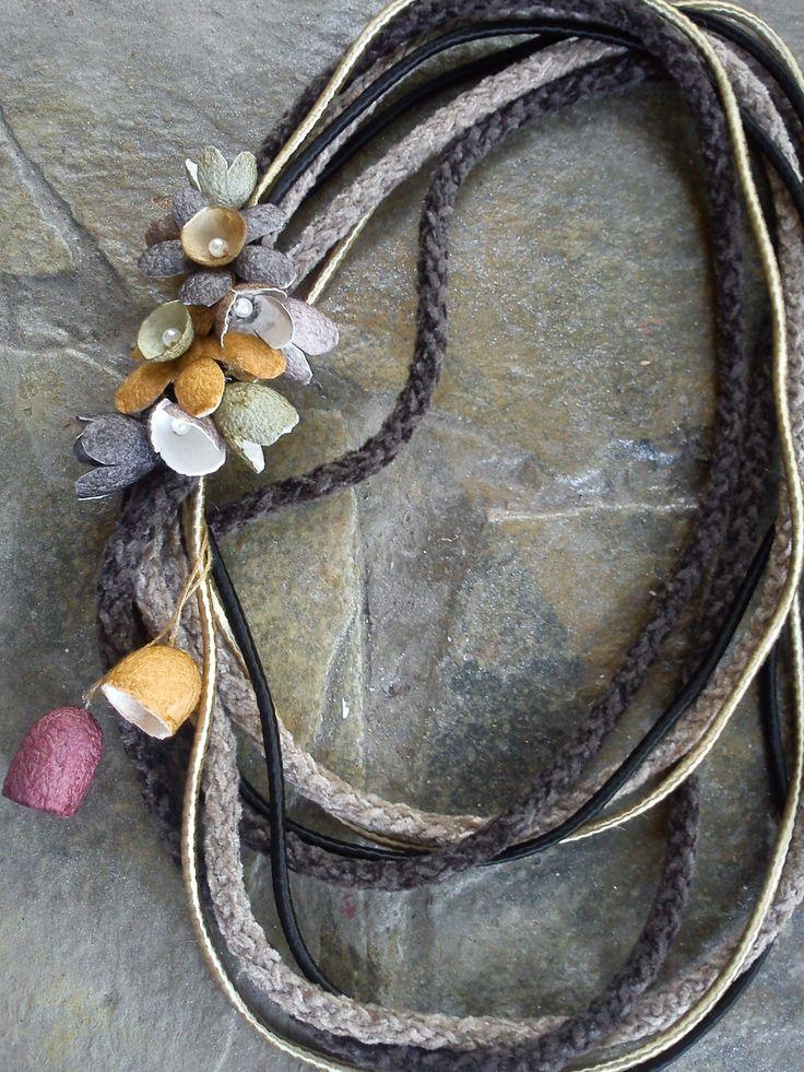 handmade silk cocoons necklace No80