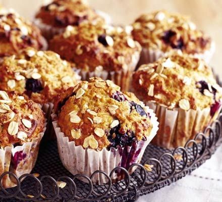 Banana & blueberry muffins: A low-fat muffin that tastes as good as it ...