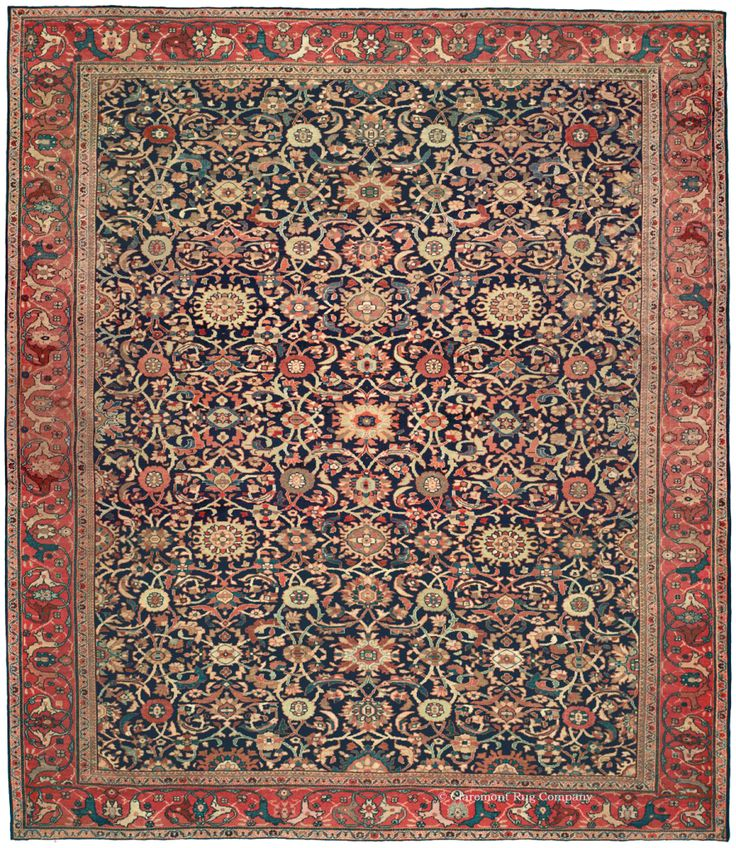 FERAHAN   West Central Persian 8ft 7in X 9ft 9in 3rd Quarter, 19th Century  Http