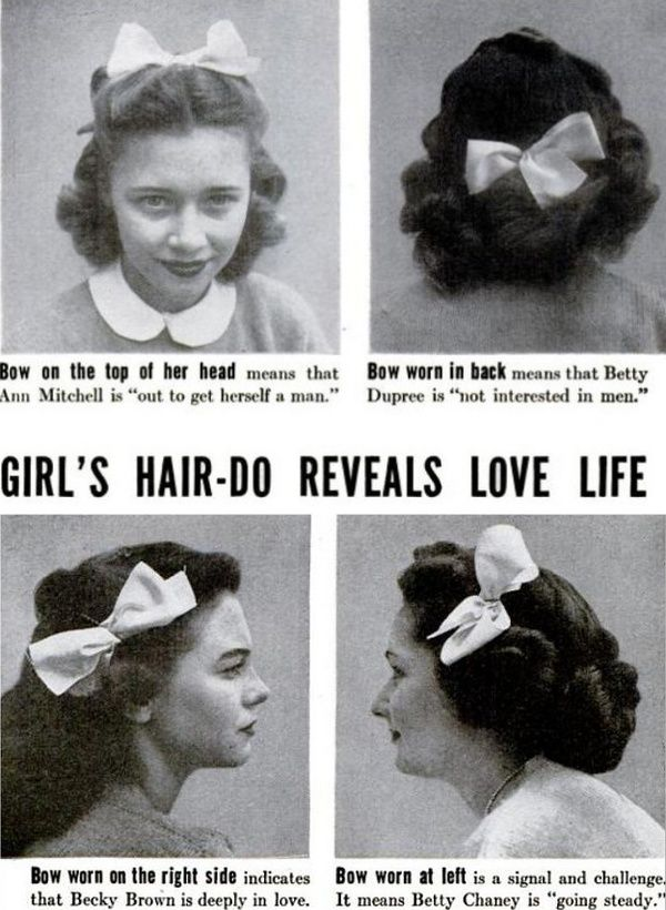 Hair Do Dating Cues, 1944