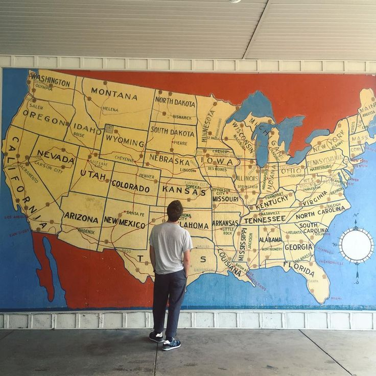 San Jose Monterey Map%0A Found a nice map mural today in Iowa