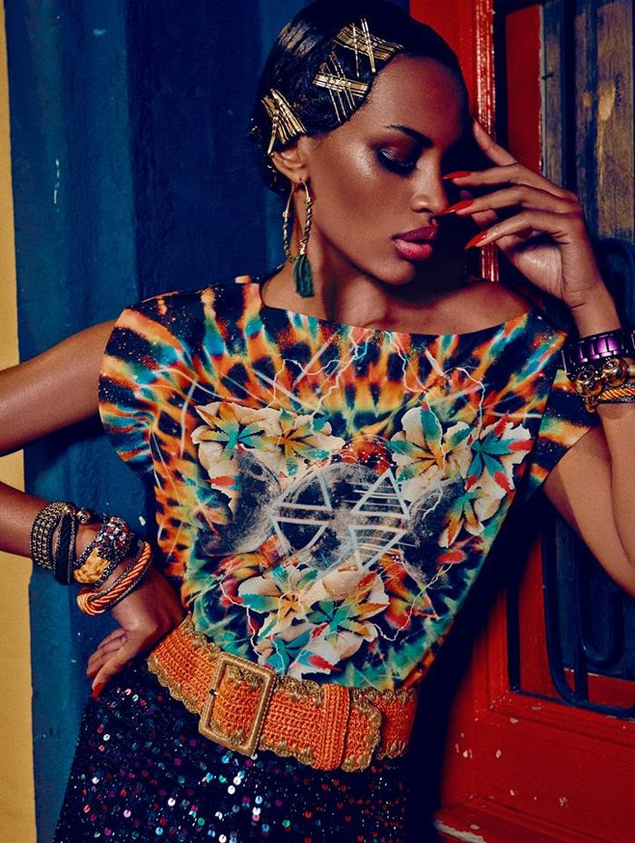 "Elle Brasil August 2013 | Ana Bela Santos em ""Estação Caliente"" por Fabio Bartelt | fashion | magazine | trend | natural hair | beauty | African american | photography | photoshoot | brazil"